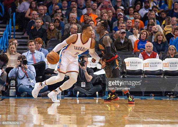 Oklahoma City Thunder Guard Russell Westbrook making a move towards the basket versus Atlanta Hawks on December 19 at the Chesapeake Energy Arena...