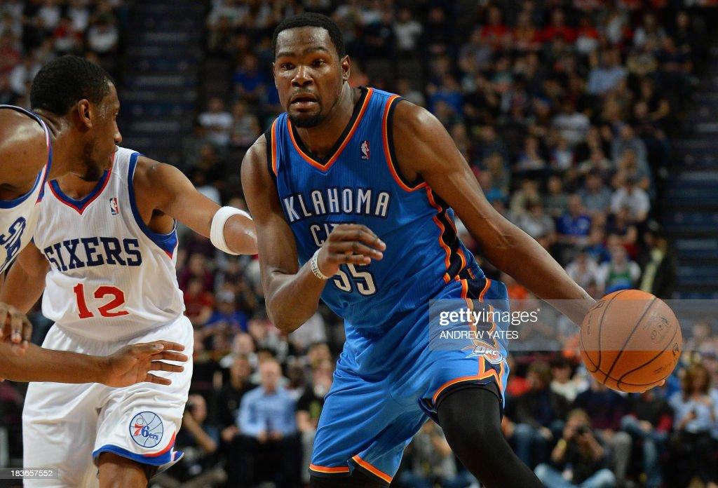 BASKET-NBA-GBR-OKLAHOMA-PHILADELPHIA : News Photo