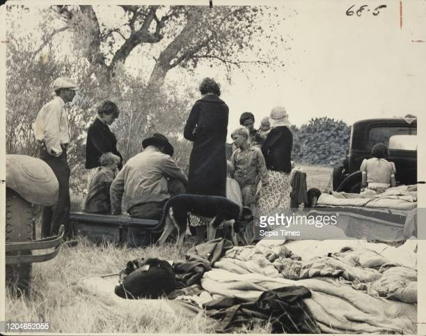 Oklahoma Refugees from the Dust Bowl, Looking for Work on the Cotton Fields, Now Encamped Near Bakersfield, California, Dorothea Lange , California,...