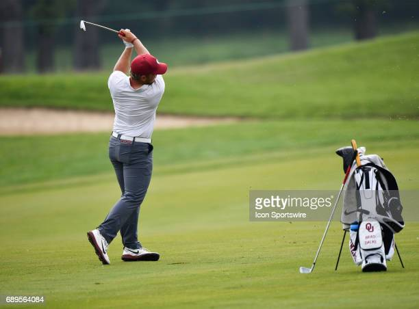 Oklahoma Sooners Brad Dalke plays the ball during round 3 of the Division I Men's Golf Championships on May 28 2017 at Rich Harvest Farms in Sugar...