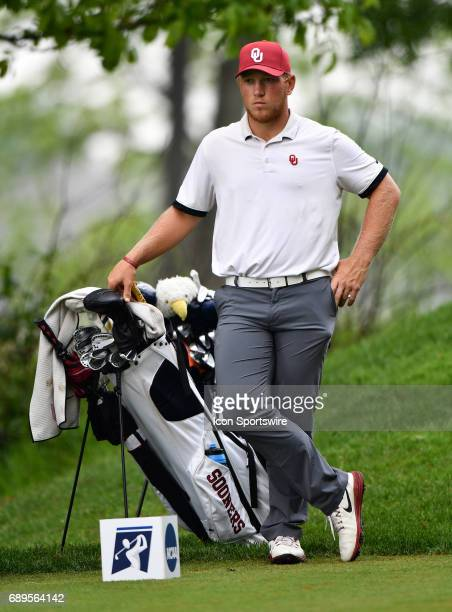 Oklahoma Sooners Brad Dalke watches on the fourth tee during round 3 of the Division I Men's Golf Championships on May 28 2017 at Rich Harvest Farms...