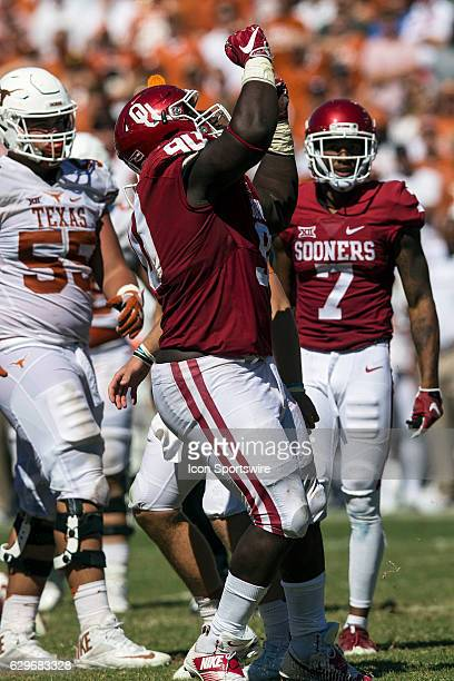 Oklahoma Sooners defensive lineman Neville Gallimore during the Oklahoma Sooners 4540 victory over the Texas Longhorns in their Red River Showdown on...