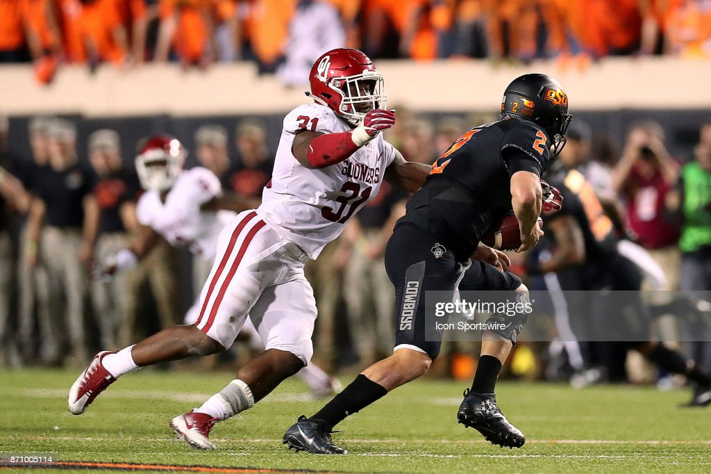 COLLEGE FOOTBALL: NOV 04 Oklahoma at Oklahoma State : News Photo