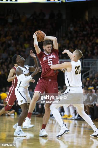 Oklahoma Sooners forward Matt Freeman during the college mens basketball game between the Oklahoma Sooners and the Wichita State Shockers on December...