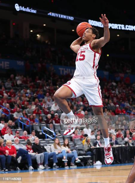 Oklahoma Sooners Guard Alondes Williams with the break away slam dunk during a NCAA basketball game between the Oklahoma Sooners and the Mississippi...