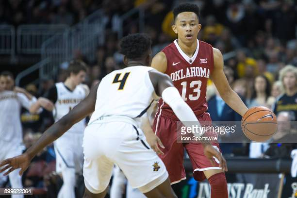 Oklahoma Sooners guard Jordan Shepherd during the college mens basketball game between the Oklahoma Sooners and the Wichita State Shockers on...