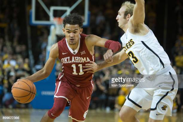Oklahoma Sooners guard Trae Young during the college mens basketball game between the Oklahoma Sooners and the Wichita State Shockers on December 16...