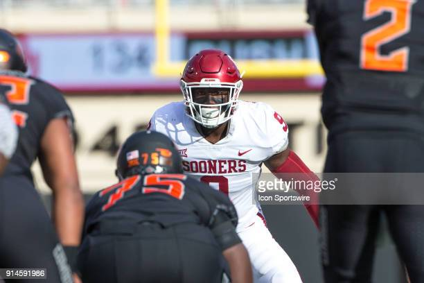 Oklahoma Sooners linebacker Kenneth Murray during the Big 12 conference college Bedlam rivalry football game between the Oklahoma Sooners and the...