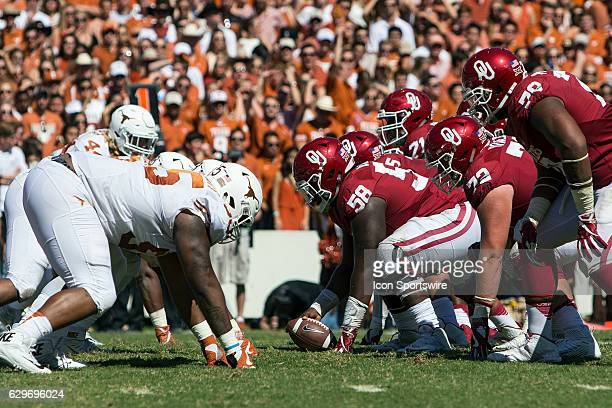 Oklahoma Sooners offensive lineman Erick Wren during the Oklahoma Sooners 45-40 victory over the Texas Longhorns in their Red River Showdown on...
