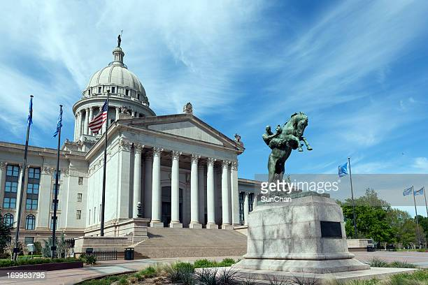 oklahoma state capitol building - oklahoma city stock pictures, royalty-free photos & images