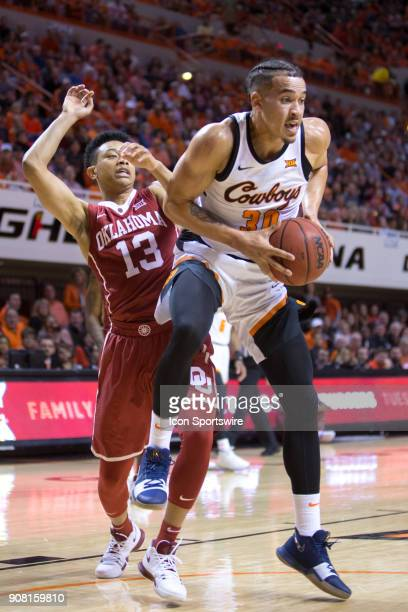Oklahoma State Cowboys guard Jeffrey Carroll during the college Big 12 conference mens basketball game between the Oklahoma Sooners and the Oklahoma...