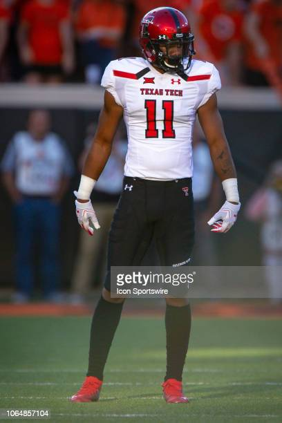 Oklahoma State Cowboys linebacker Amen Ogbongbemiga waits for the next play during the college Big 12 conference football game against the Oklahoma...