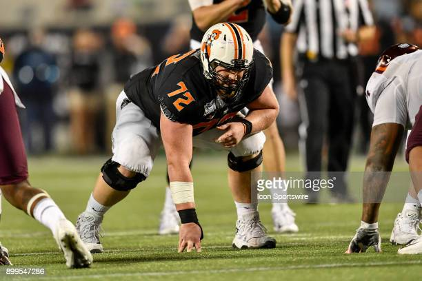 Oklahoma State Cowboys offensive lineman Johnny Wilson during the second half of the Camping World Bowl game between the Virginia Tech Hokies and the...