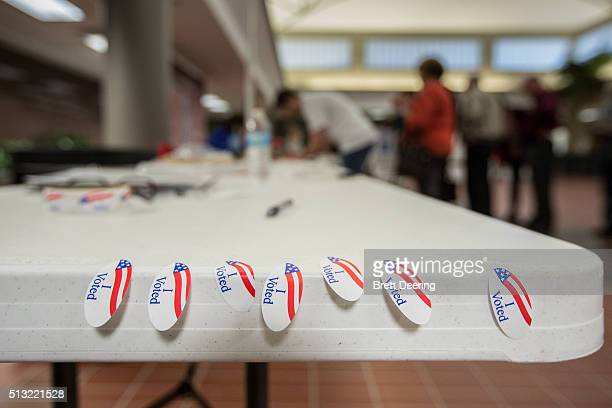 Oklahoma voters line up to vote at Oklahoma Christian University on Super Tuesday March 1 2016 in Oklahoma City Oklahoma voters head to the polls for...