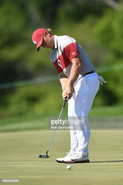 Oklahoma's Brad Dalke during the NCAA Division I Men's Golf Championship on May 30 at Rich Harvest Farms in Sugar Grove IL