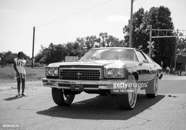 okmulgee oklahoma black rodeo - chevrolet impala stock pictures, royalty-free photos & images