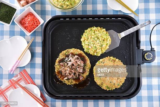 Okonomiyaki on Hot Plate