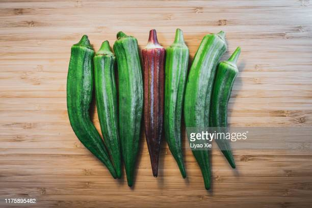 okra - liyao xie stock pictures, royalty-free photos & images