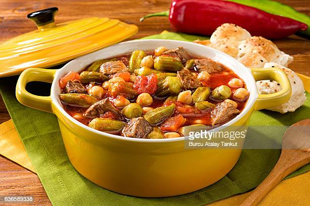 okra with lamb meat