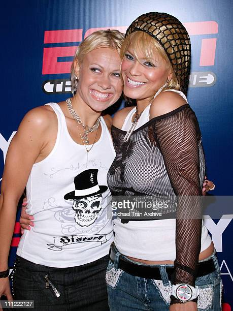 Oksana Baiul and Blu Cantrell during ESPN The Magazine Presents Summer Fun 2006 - Arrivals at The Roosevelt Hotel in Hollywood, California, United...