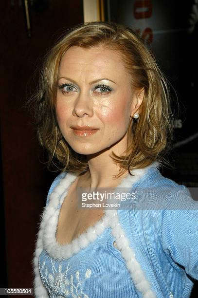 Oksana Baiul during Hostage New York City Premiere Inside Arrivals at Ziegfield Theater in New York City New York United States