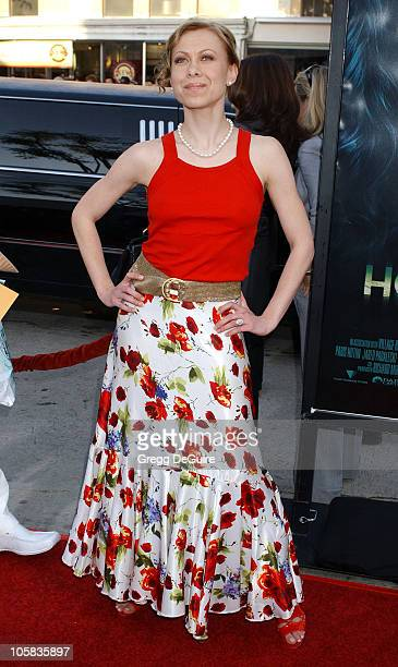 Oksana Baiul during House of Wax Los Angeles Premiere Arrivals at Mann Village Theatre in Westwood California United States