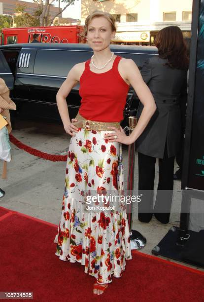 Oksana Baiul during House of Wax Los Angeles Premiere Outside Arrivals at Mann Village Theater in Westwood California United States