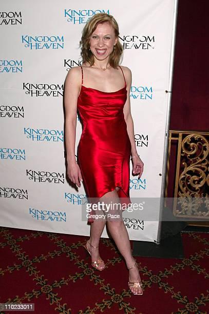 Oksana Baiul during Kingdom of Heaven New York City Premiere Inside Arrivals at Ziegfeld Theater in New York City New York United States