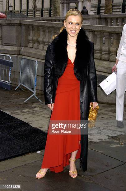 Oksana Baiul during Olympus Fashion Week Fall 2005 The Heart Truth Red Dress Collection Fashion Show Departures at Olympus Fashion Week at Bryant...