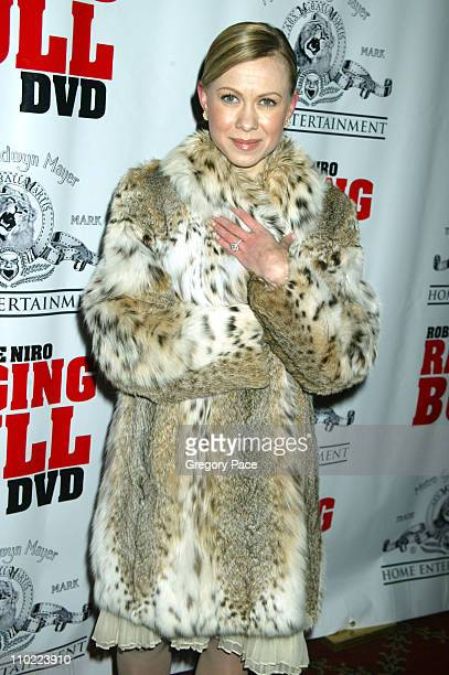 Oksana Baiul during Raging Bull 25th Anniversary and Collector's Edition DVD Release Celebration Inside Arrivals at Ziegfeld Theater in New York City...