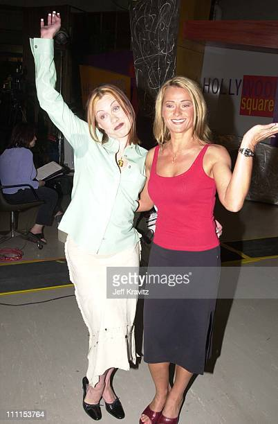 Oksana Baiul Nadia Comaneci during Hollywood Squares Taping 2000 in Los Angeles California United States