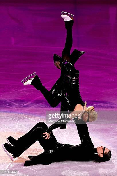 Oksana Domina and Maxim Shabalin of Russia perform at the Exhibition Gala following the Olympic figure skating competition at Pacific Coliseum on...