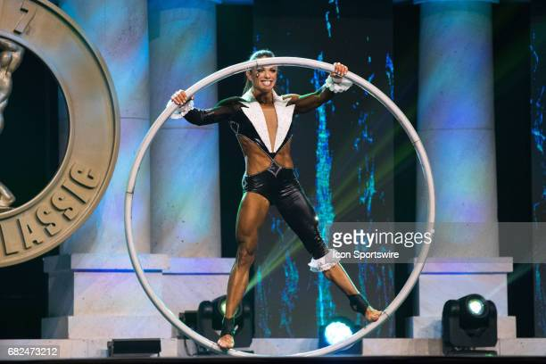 Oksana Grishina competes in Fitness International as part of the Arnold Sports Festival on March 3 at the Greater Columbus Convention Center in...