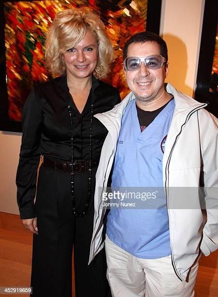 Oksana Mas and Noah G Pop attend the Zorya Fine Art event at Ukrainian Institute Of America on November 17 2009 in New York City
