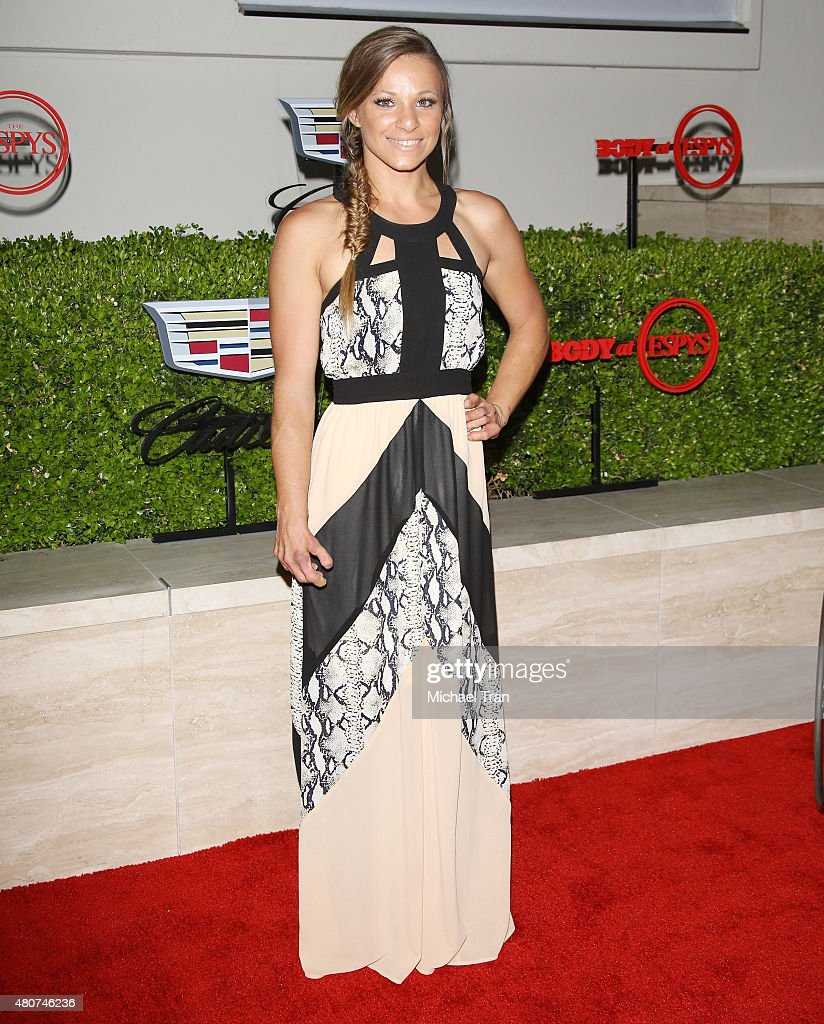 Oksana Masters arrives at the BODY at ESPYS Pre-Party held at Milk Studios on July 14, 2015 in Los Angeles, California.