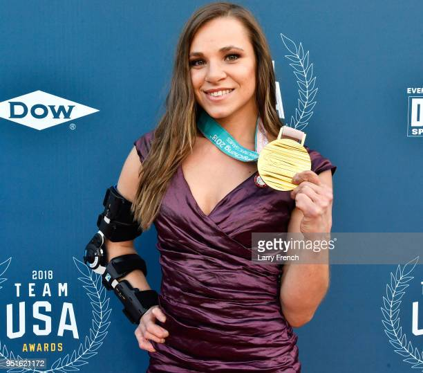 Oksana Masters attends the Team USA Awards at the Duke Ellington School of the Arts on April 26 2018 in Washington DC