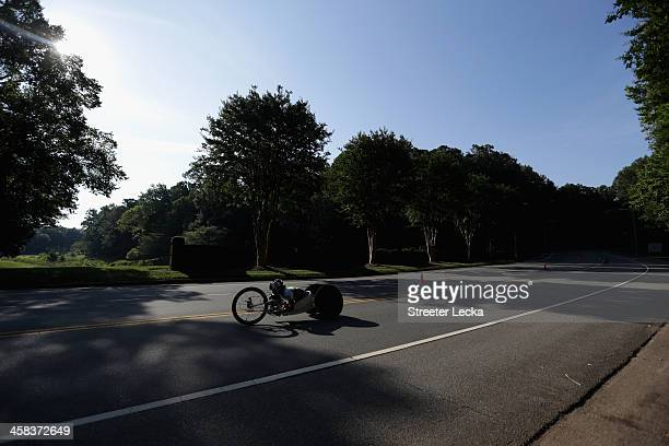 Oksana Masters competes in the WH45 finals of the 2016 US Paralympics Trials Cycling at The Park on July 2 2016 in Huntersville North Carolina
