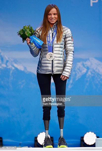 Oksana Masters of the United States wins silver in the CrossCountry Skiing Women's 12km Sitting on March 10 2014 in Sochi Russia