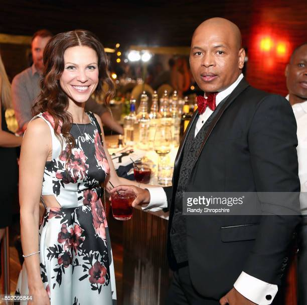 Oksanna Romanov and Tariku Bogale attend Unstoppable Tariku Bogale book launch on September 22 2017 in West Hollywood California