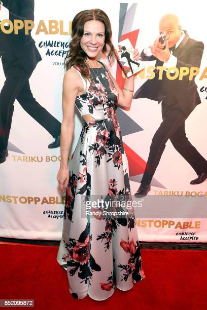 Oksanna Romanov attends Unstoppable Tariku Bogale book launch on September 22 2017 in West Hollywood California