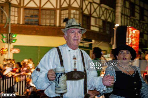 oktoberfest, blumenau - brazil - official parade - beer stein stock photos and pictures