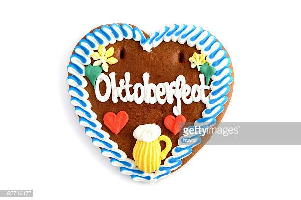 Oktoberfest Gingerbread Cookie in Herzform