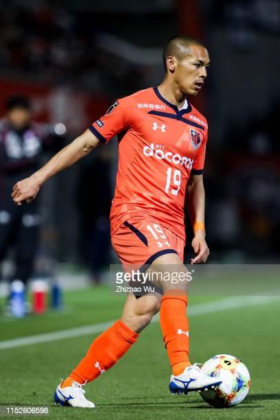 Okui Ryo of Omiya Ardija controls the ball during the J.League J2 match between Omiya Ardija v Fagiano Okayama at Nack 5 Stadium Omiya on April 03,...