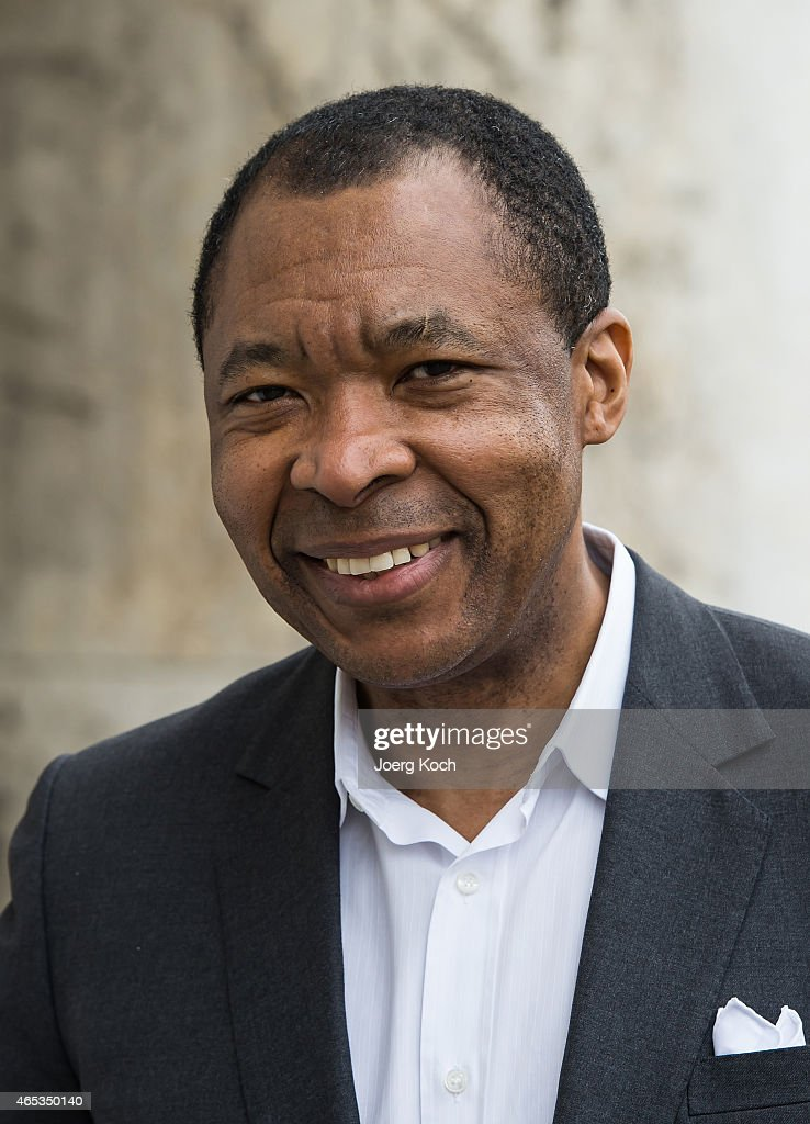 Okwui Enwezor, director of the 'Haus der Kunst', attends the 'All the World's Futures' International Art Exhibition Press Conference at Haus der Kunst on March 6, 2015 in Munich, Germany.