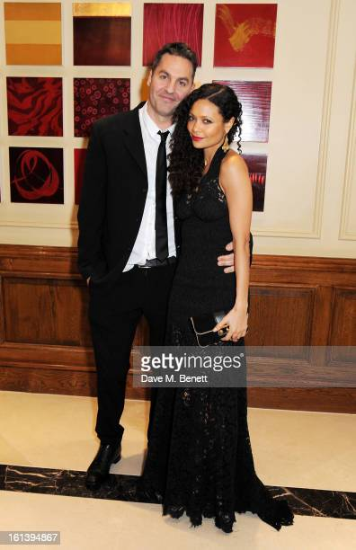 Ol Parker and Thandie Newton arrive at the after party following the EE British Academy Film Awards at Grosvenor House on February 10 2013 in London...