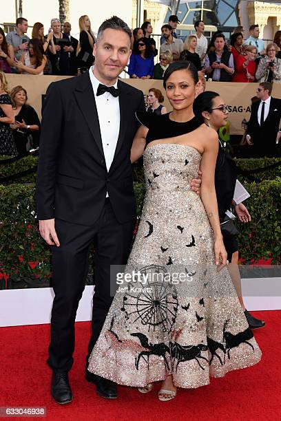 Ol Parker and Thandie Newton attend the 23rd Annual Screen Actors Guild Awards at The Shrine Expo Hall on January 29 2017 in Los Angeles California