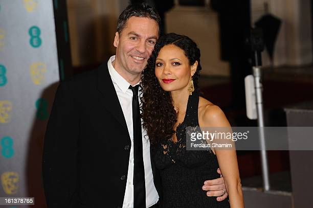 Ol Parker and Thandie Newton attend the EE British Academy Film Awards at The Royal Opera House on February 10 2013 in London England