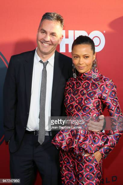 Ol Parker and Thandie Newton attend the premiere of HBO's Westworld Season 2 at The Cinerama Dome on April 16 2018 in Los Angeles California