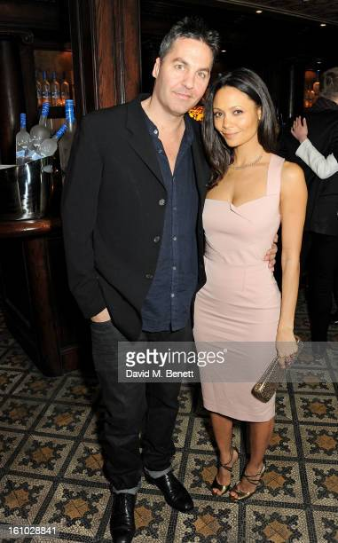 Ol Parker and Thandie Newton attend the 'Silver Linings Playbook' Grey Goose Dinner hosted by Harvey Weinstein and Stephen Fry at Little House on...