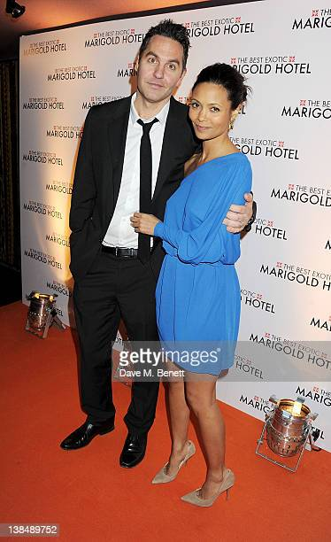 Ol Parker and Thandie Newton attend the World Premiere of 'The Best Exotic Marigold Hotel' at the Curzon Mayfair on February 7 2012 in London England